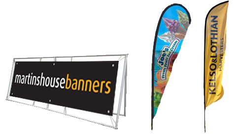 Outdoor Advertising products and flags - Banners & Signs