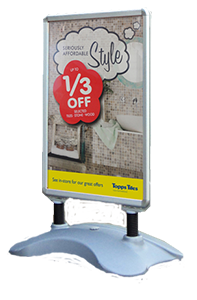 snap frame pavement sign - pavement and forecourt signs