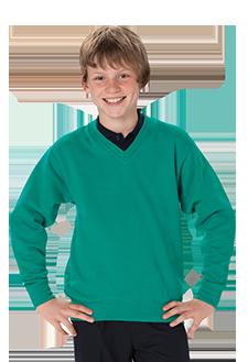 School Uniforms Embroidered V-Neck Sweatshirt - school uniform supplier